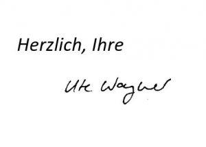 Herzlich, Ihre Ute Wagner